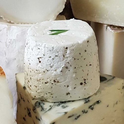 Perroche Cheese, young fresh British goat's milk cheese